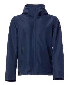 Laminated fabric jacket with waterproof zip