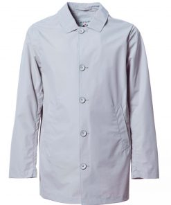Laminated fabric dust coat with chambray cool cotton lining