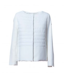 100g eco-goose intermediate jacket  with sleeves and edge made of twill woven fabric