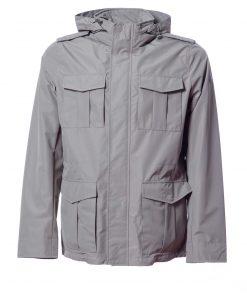 Field jacket in poli effetto cotone foderato