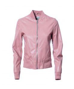 Eco-leather bomber jacket
