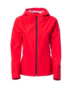 Intermediate jacket in laminated fabric with waterproof zip