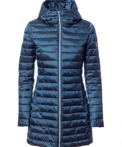 100g long quilted jacket, with hood